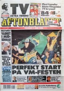 Aftonbladet 1998, 1:a sidan.