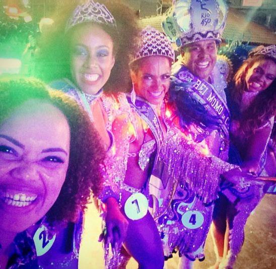 Clara Paixão vald till Karnevalens Drottning i Rio de Janeiro 2015