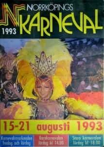 Karnevalsaffisch, Norrköping 1993.
