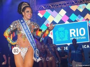 Clara Paixão, Carnival Queen in Rio and Stockholm 2016 • Foto: Portal do Samba